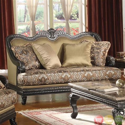formal sofa sets traditional painted black formal sofa set with carved