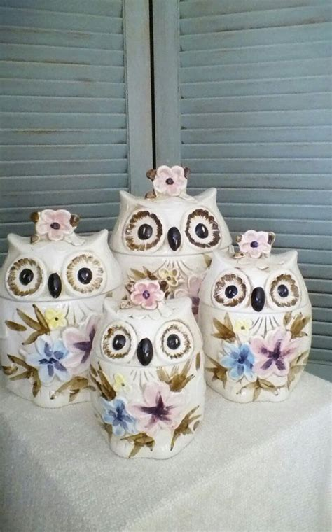 owl canisters for the kitchen 507 best kitchen canisters images on pinterest kitchen