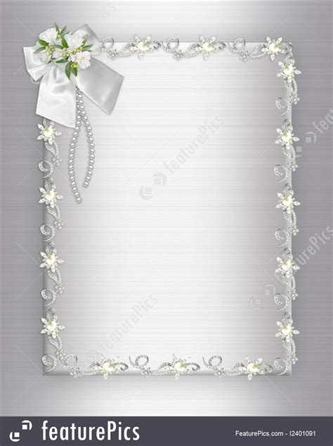 Wedding Invitation Background Elegant Stock Illustration I2401091 at FeaturePics