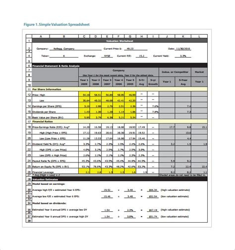 Stock Spreadsheet Template 7 Free Word Pdf Documents Download Free Premium Templates Business Valuation Spreadsheet Template