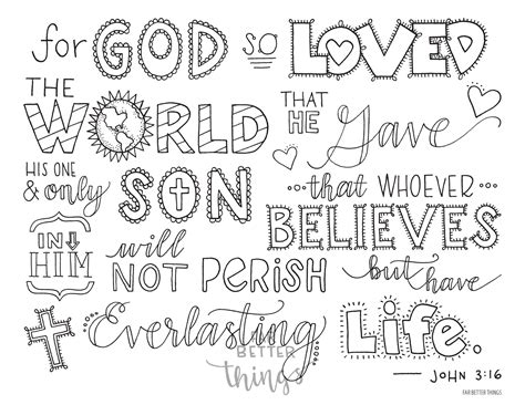 coloring page for john 3 16 bible verse coloring page john 3 16 printable 8 5x11