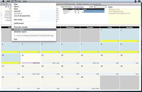 Budget Calendar Exle Budget Calendar Mac