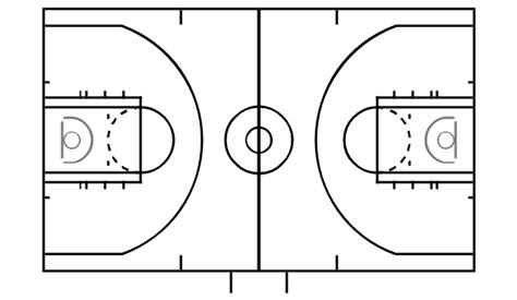 basketball key template basketball courts vector stencils library