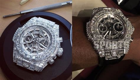 mayweather watch collection floyd mayweather s 1 1 m encrusted hublot watch