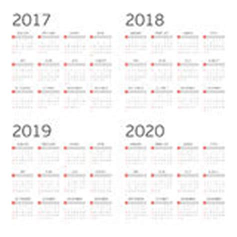 4 year calendar template calendar for 2017 2018 2019 2020 week starts sunday