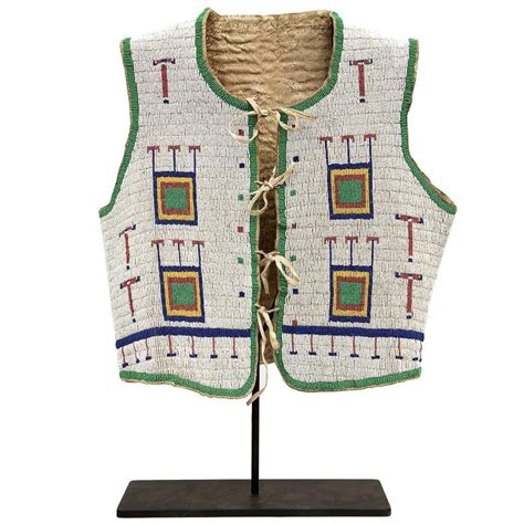 beaded vest american antique american beaded vest sioux plains 19th