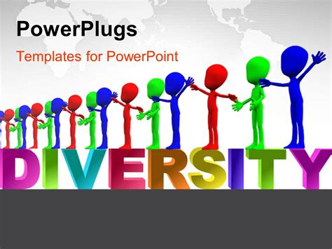Diversity Powerpoint Templates Free powerpoint template row of colorful figures representing