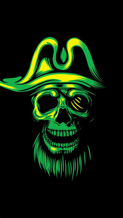 wallpaper hd android skull pirate skull hd wallpaper for your mobile phone