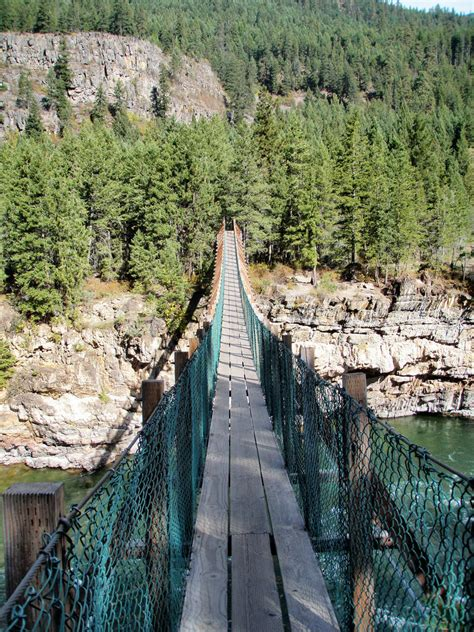 swinging bridge montana kootenai falls and the swinging bridge libby montana