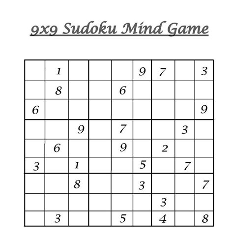printable sudoku sheets pdf 8 best images of sudoku printable grids 9x9 blank sudoku