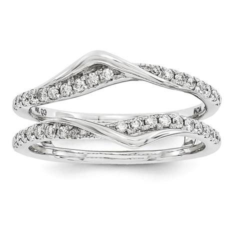 ring guard 14k white gold 0 33 ct size 7 ebay