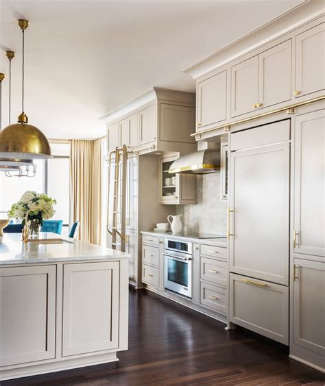 hardware on kitchen cabinets grey kitchen cabinets brass accents this or that cococozy