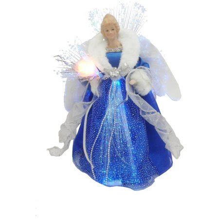 blue angel tree topper time blue and silver led tree topper walmart