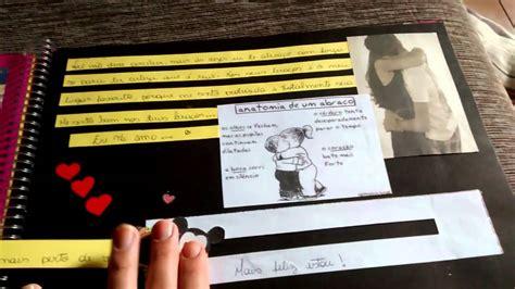 tutorial scrapbook para namorado scrapbook para namorado dica de presente youtube