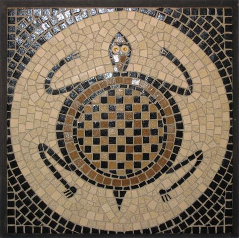 Mosaic Circular Turtle Isabel Farrell Mosaics Mosaic Ideas Pinterest Mosaics And Patterns Mosaic Patterns Templates