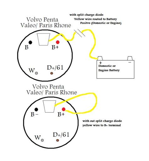 volvo penta alternator wiring diagram 37 wiring diagram
