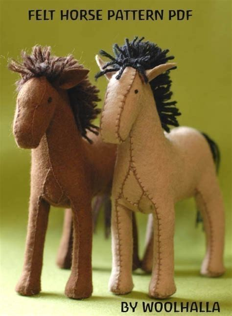 Pattern For Felt Horse | felt horse pattern pdf by woolhalla on etsy