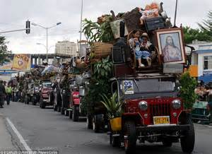 Jeep Colombia Parade In Colombia Where Farmers Compete To Load As Much