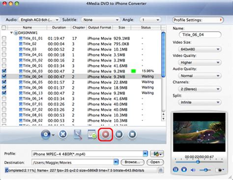 dvd format converter mac how to convert dvd movie to iphone format on a mac