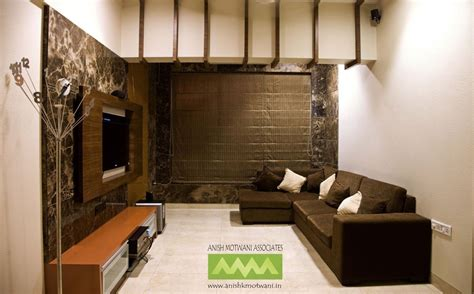 home interior design mumbai large living room with brown sofas design by anish