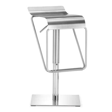 collete modern adjustable bar stool white brushed steel dazzer brushed stainless steel adjustable bar stool zuo
