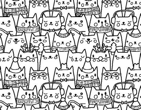dibujos de navidad para colorear dibujosnet dibujo de gatitos navidad para colorear dibujos net