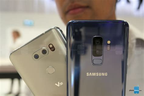samsung vs lg samsung galaxy s9 vs lg v30 look phonearena reviews