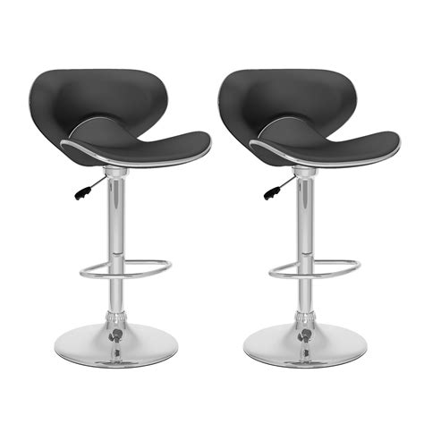 Kitchen Bar Stools Canada by Corliving B 5 Curved Form Fitting Adjustable Bar Stool Set Of 2 Lowe S Canada