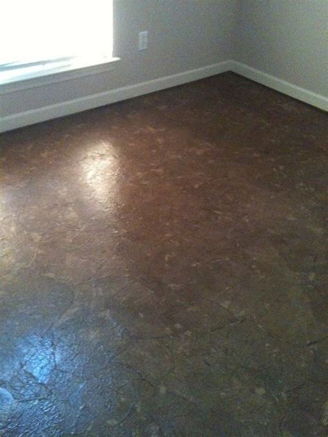 brown paper bag floor with polyurethane for the home
