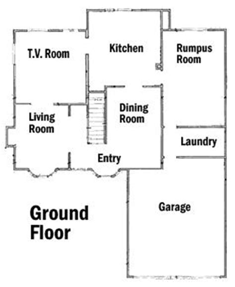 floor plan of the simpsons house floorplans