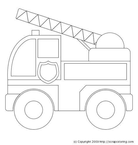 simple fire truck coloring page fire truck coloring page