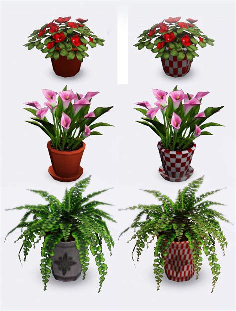 tiny potted plants mod the sims 3 small potted plants