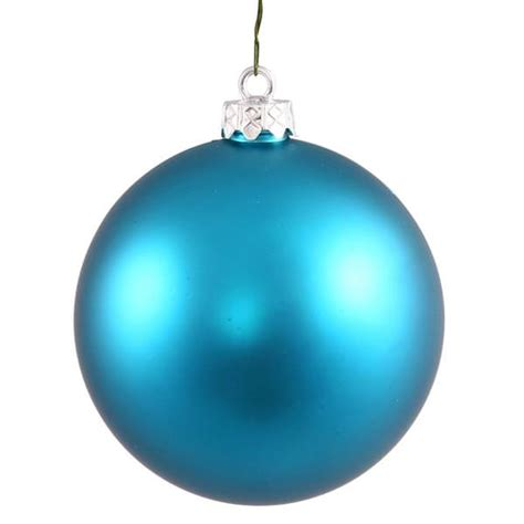 vickerman 34917 4 quot turquoise matte ball christmas tree