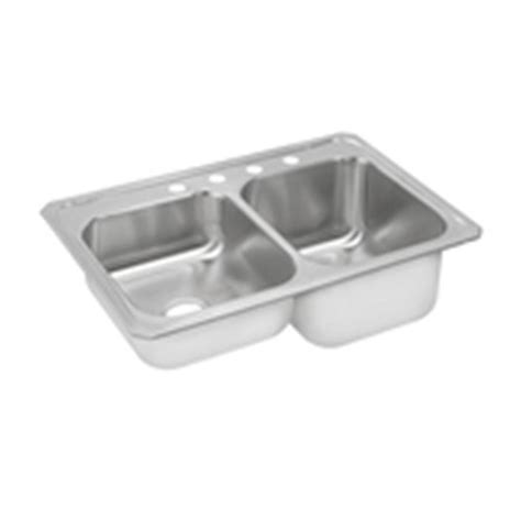 stainless steel kitchen sinks top mount elkay gourmet top mount stainless steel 33 in 4