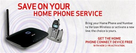 verizon  home phone connect service  nationwide