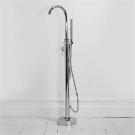 bath tap showers tec series modern freestanding floor standing single lever chrome bath shower mixer tap taps