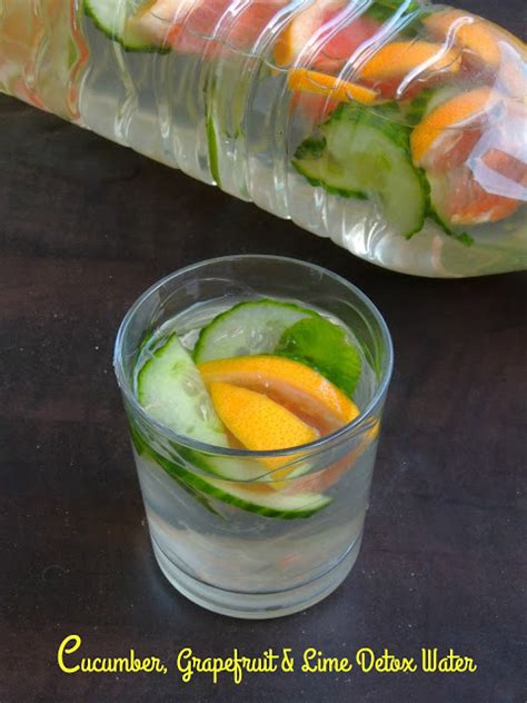 Grapefruit Cucumber Detox Water by Cucumber Grapefruit Lime Detox Water Cook N Click