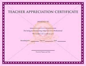 Certification Congratulation Letter Printable Teacher Appreciation Certificate Certificate Template