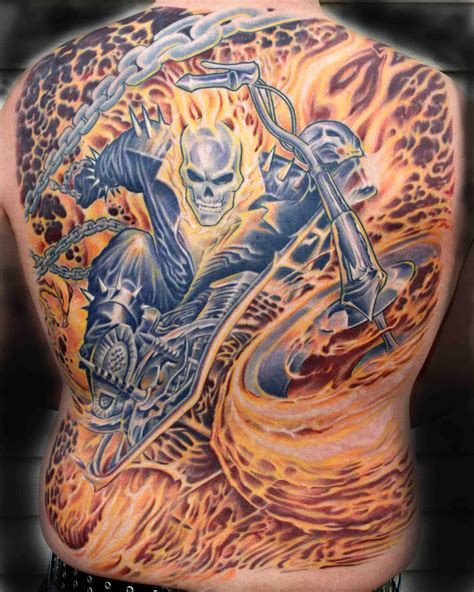 ghost tattoo kari barba tattoos ghost rider gallery