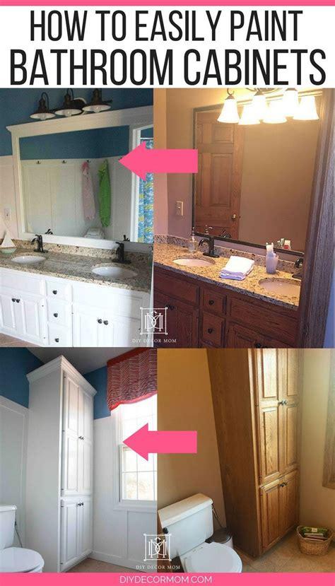 paint bathroom cabinets   shouldnt sand