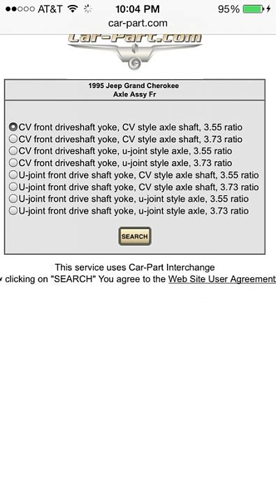 need front axle info jeep forum