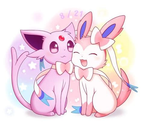 espeon y sylveon pokemon pinterest