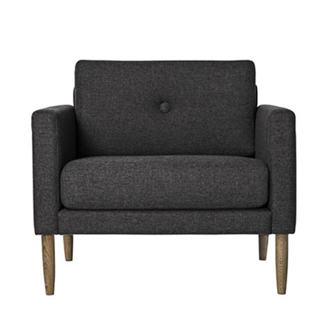 fauteuil tissu design fauteuil design tissu gris anthracite calm bloomingville