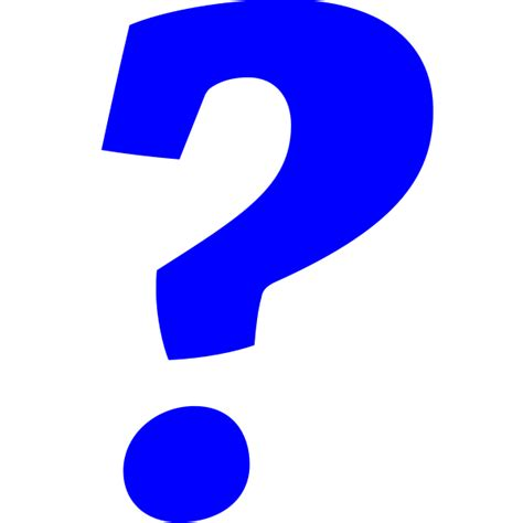 Or Question In File Blue Question Italic Svg