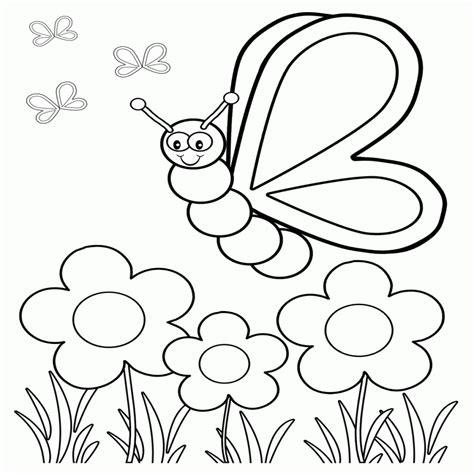dibujo de mariposa en flores para colorear mariposas para colorear infantiles sencillas mariposas