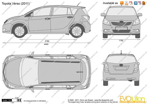 the blueprints com vector drawing toyota verso