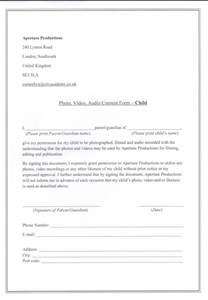 Consent To Photograph Template by Photograph Consent Form Images