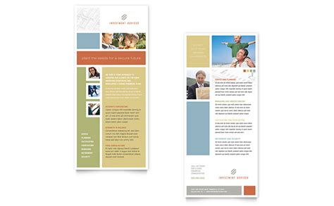 investment advisor rack card template word publisher