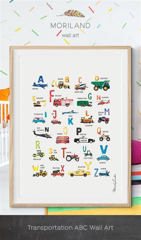 alphabet print transportation alphabet poster abc poster