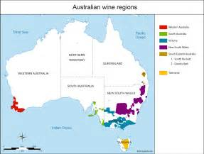 regional map of australia australia map of vineyards wine regions